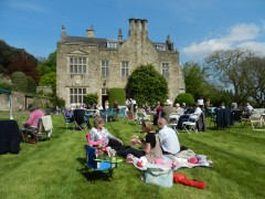 Relaxing on the lawn at Clevedon House