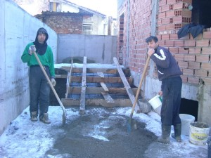 Gypsy workers on site - February 2006