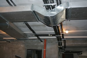 Beautiful looking heating pipes installed - June 2008