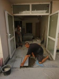 Entrance Tiling - August 2011