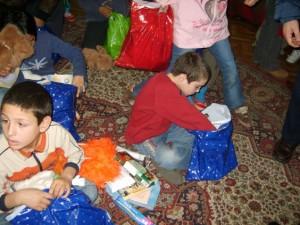 "Razliv orphanage - children enjoying a visit from the ""Bundles of love"" team."