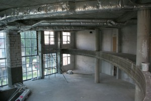 Plastering of auditorium - June 2010