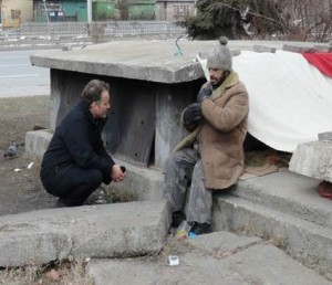 Homeless man in Sofia