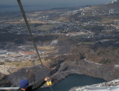 quarry zip wire